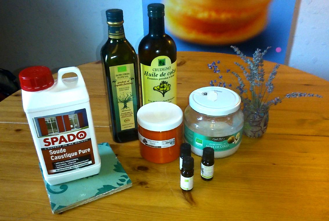 ingredients savon maison