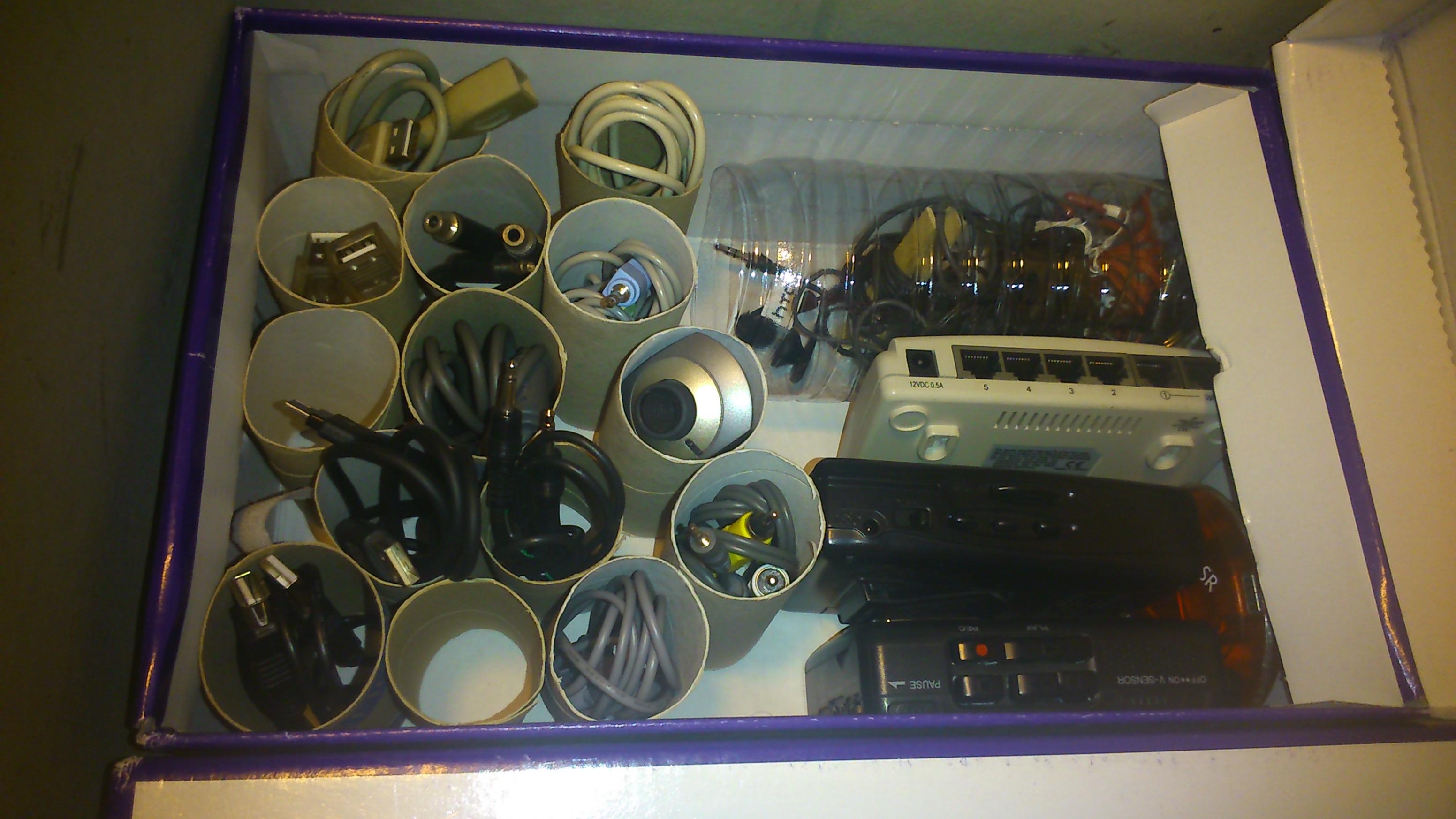 boite cable rouleaux pq rangement