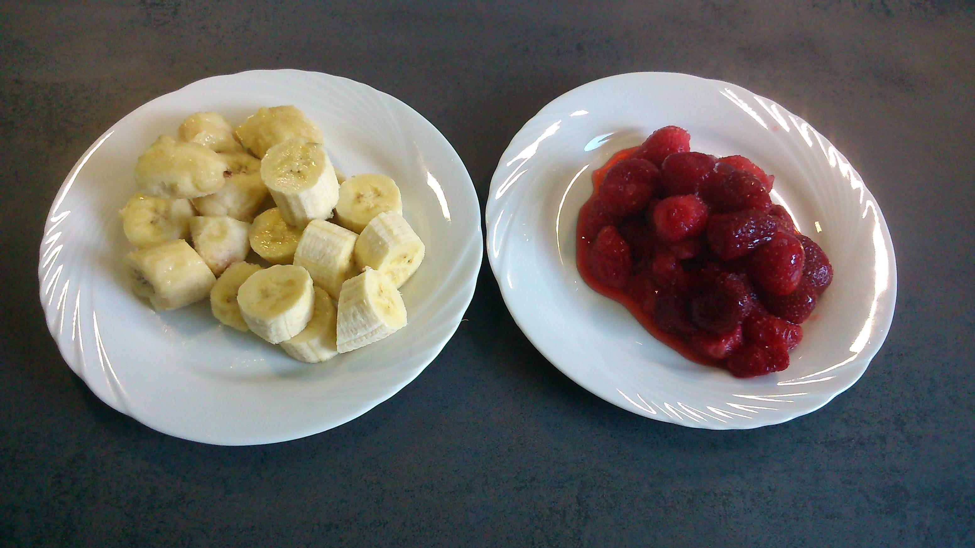 fraises bananes