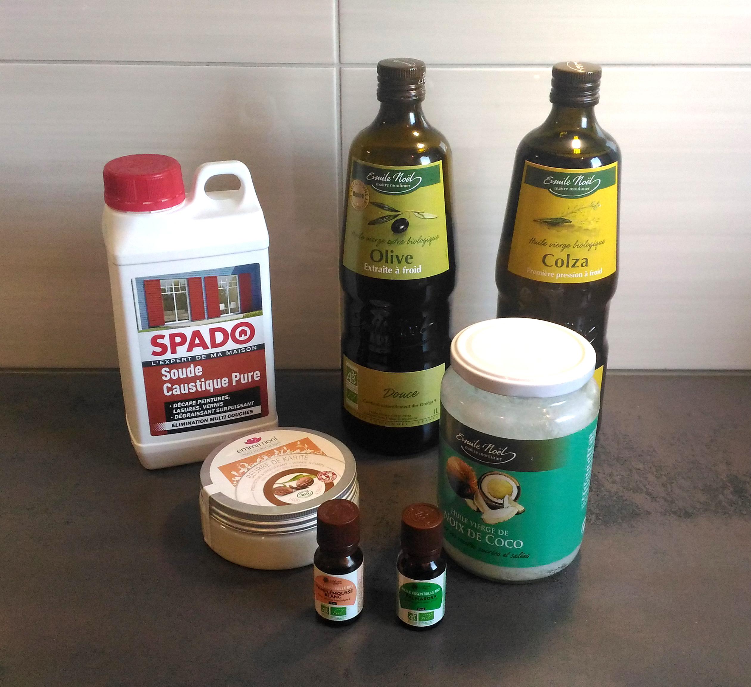 huiles savon maison DIY