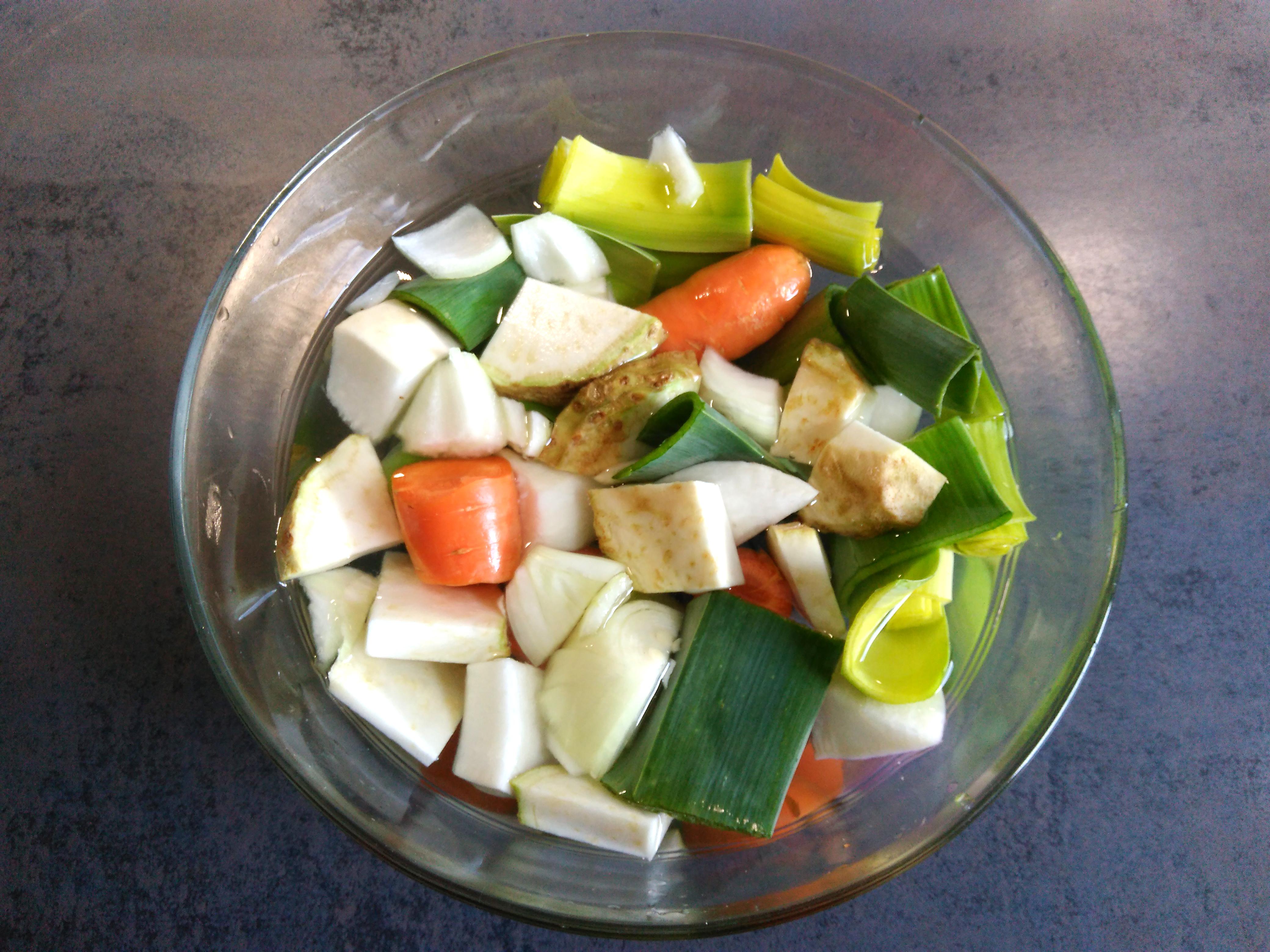 légumes bouillon maison