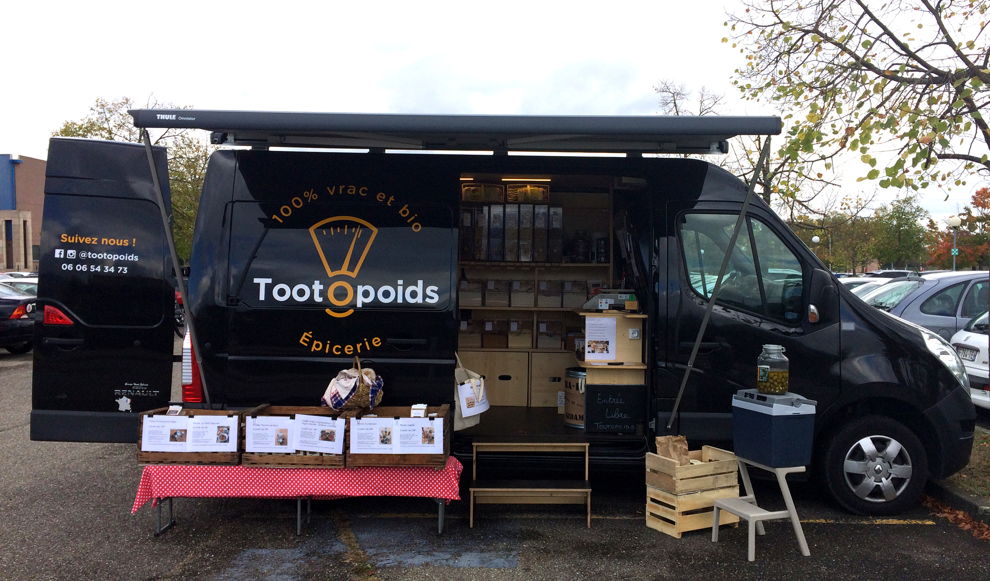 TOOTOPOIDS Epicerie itinérante 100% vrac et bioen Alsace, tom le camion